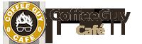 coffee guy cafe logo white